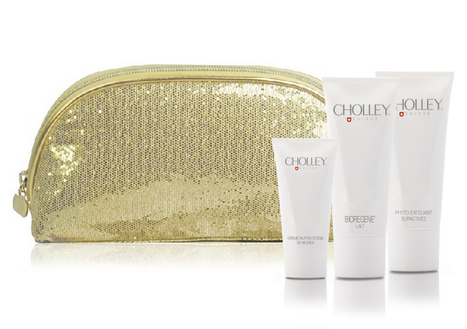 NEW_CHOLLEY Kit Promo Pochette Oro