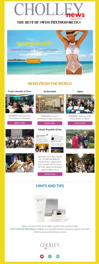 CHOLLEY Newsletter August 201